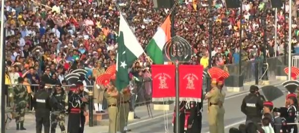 Impressive, flag-lowering, ceremony, Wagah Border, Pakistan Day
