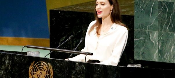 angelina jolie peace talk us united nations afghanistan refugee