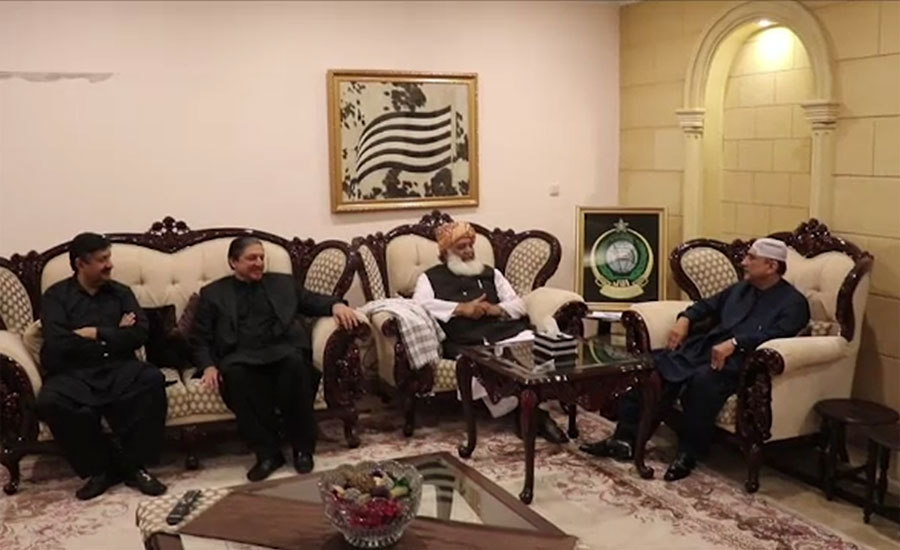 Zardari, Fazlur Rehman exchanges views on country's political situation