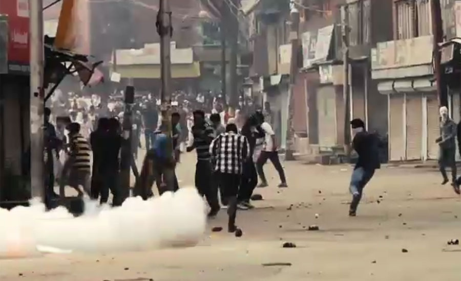 Clashes erupt in Kulgam amid complete boycott of Indian polls in IOK