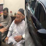 Jamia Darul Uloom, Moulana Taqi Usmani Sindh Chief Minister Murad Ali Shah Governor Sindh Imran Ismail Jamia Darul Uloom Nipa Chowrangi cars