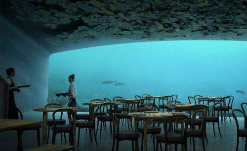 family restaurant underwater restaurant Snoehetta Opera house
