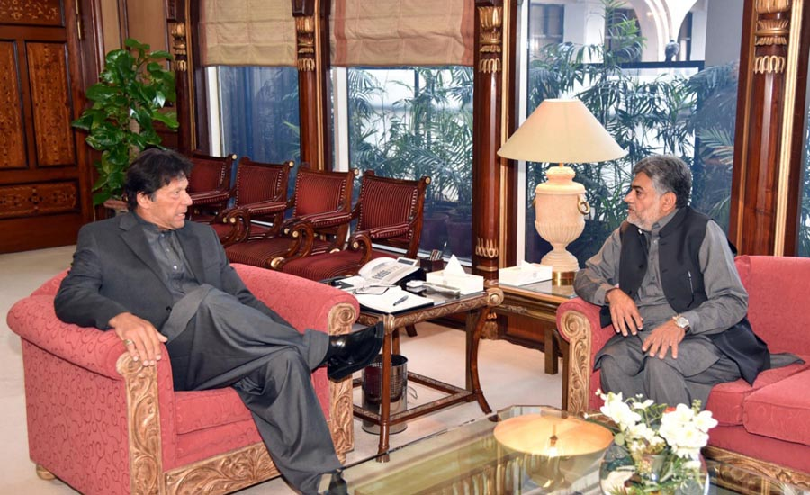 Punjab Information Minister Sumsam Bukhari calls on PM Imran Khan