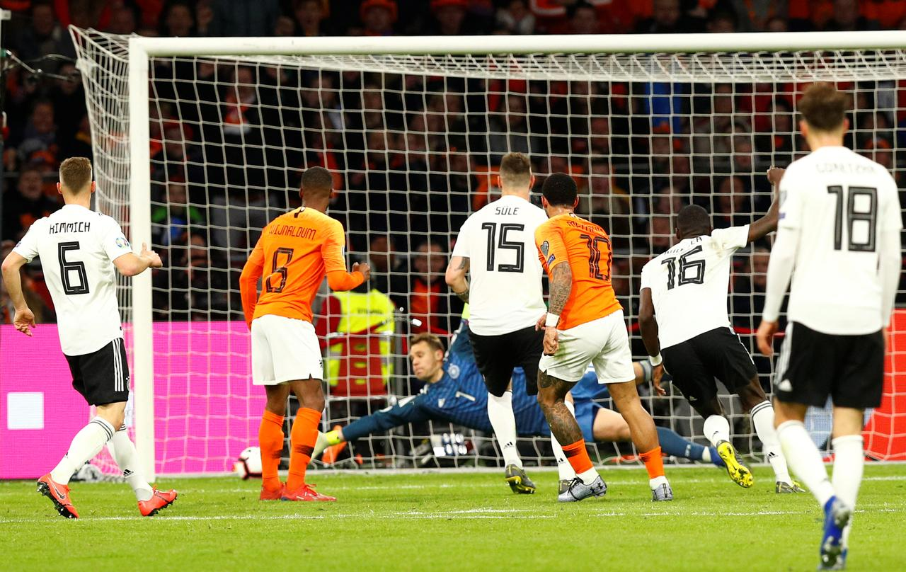 Germany stun Netherlands in Euro 2020 Group C qualifier