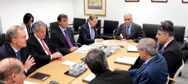 Asad Umar finance minister IMF WB washington US