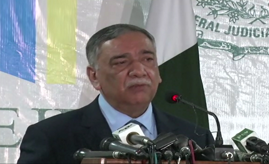CJP Asif Saeed Khosa calls for a system for monitoring all courts