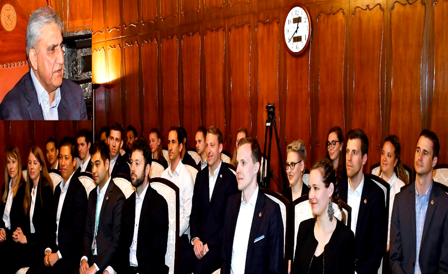 US Cornell University students meet COAS Qamar Bajwa