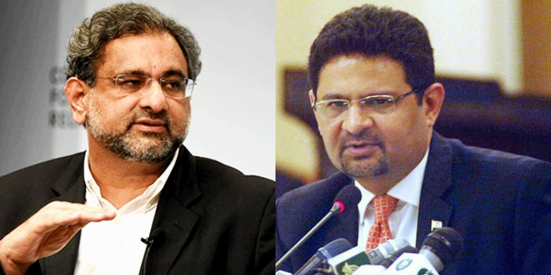 Names of Khaqan Abbasi, Miftah Ismail placed on ECL