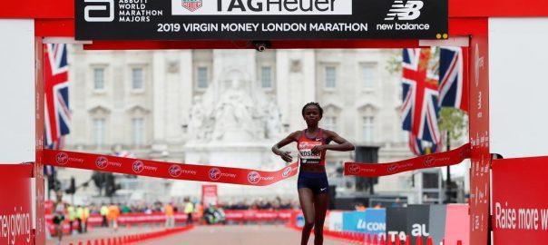Kosgei, beats, favourites, win, London Marathon, title