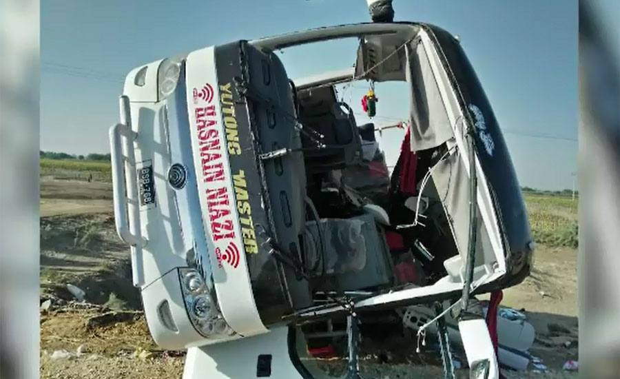 Seven killed, 40 injured after passenger bus overturns in Badin