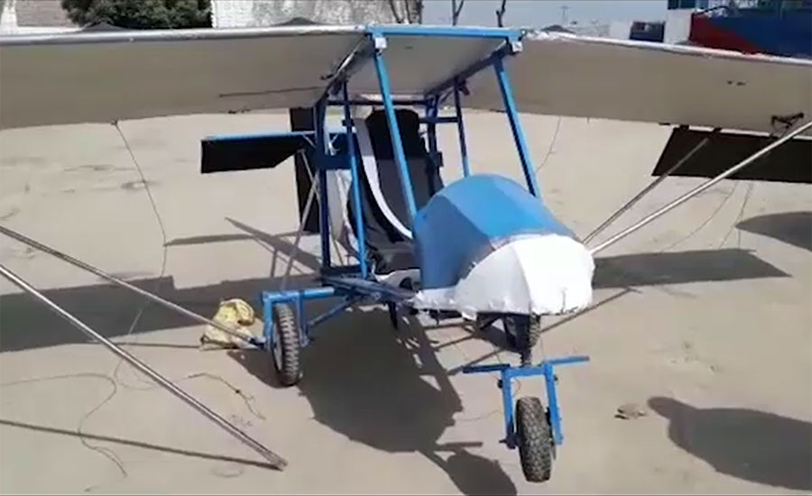 Under Matric engineer gets back his 'homemade' airplane