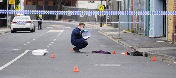 club firing.australia police hospital critical condition