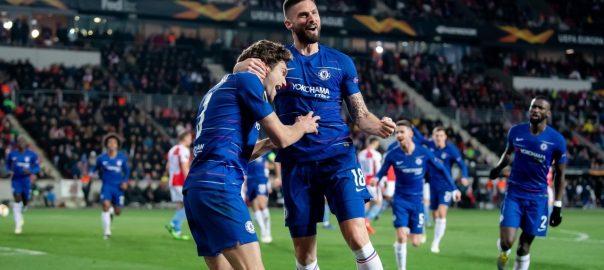 Chelsea football fifa slavia Europa league semi final