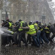 Yellow Yellow vest yellow vest demonstrator police paris police clash