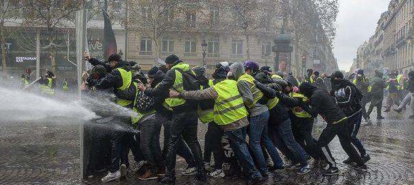 Yellow Yellow vest yellow vest demonstrator police paris police clash