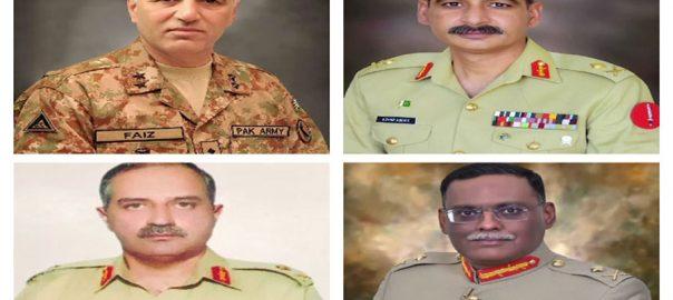 major generals lieutenant generals pakistan army ISPR GHQ