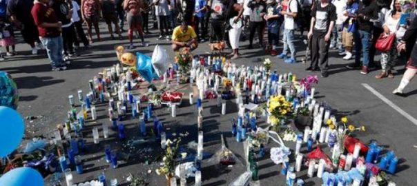 rapper stampede rapper Nipsey Hussle Mourners slain rapper Los Angles