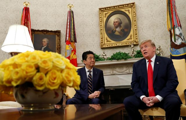 Trump pressed Japan's Abe to build more vehicles in the US