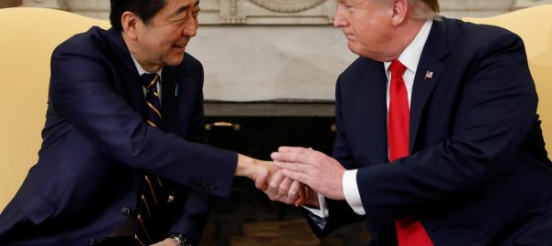 trump us japan abe trade talks may economy