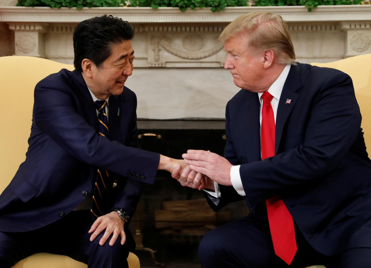 Trump says sees possibility of US-Japan trade deal by May