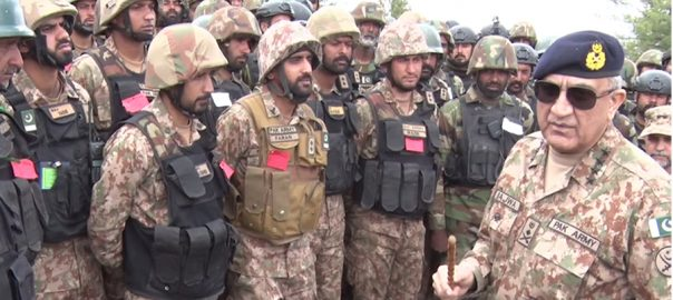 COAS, Qamar Bajwa, visits, troops, forward posts, Pak-Afghan border