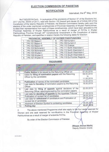 ECP, Election commission of Pakistan, ECP, KP aasembly