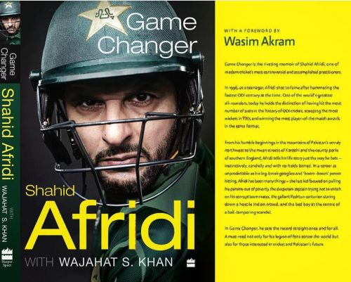Game Changer, Game Changer shahid afridi autobiography waqar Younis mohammad amir asif salman butt miandad javed miandad wasim akram imran khan 1999 2011 cricket Pakistan journalist Wajahat S Khan