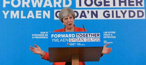 British PM, May, peril, Brexit, EU election, day