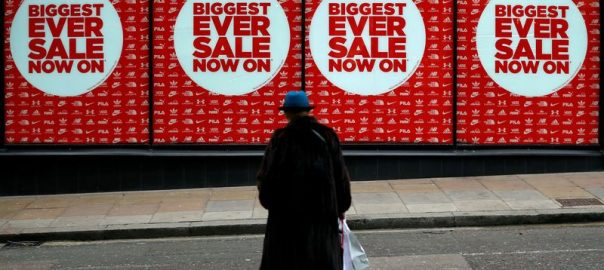 UK shoppers pause in April after surge in spending