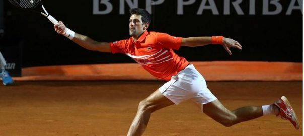 tennis djokovic nadal rome semi injury