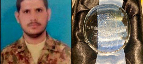Martyred, Pakistani, peacekeeper, Naik, Naeem, awarded, UN, medal
