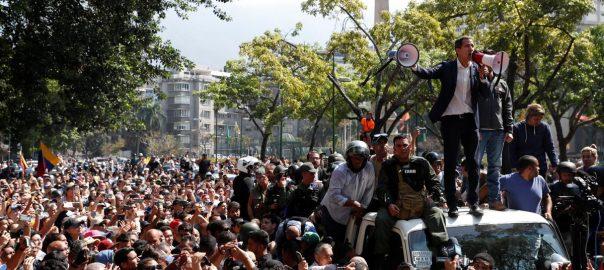 march, Guaido Venezuela's Venezuelans march largest march history