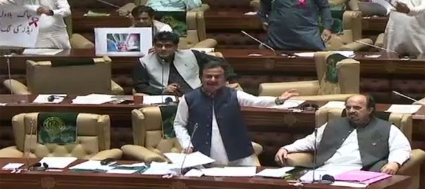 Sindh Assembly HIV Haleem Adil Sheikh JIT opposition memebers protest