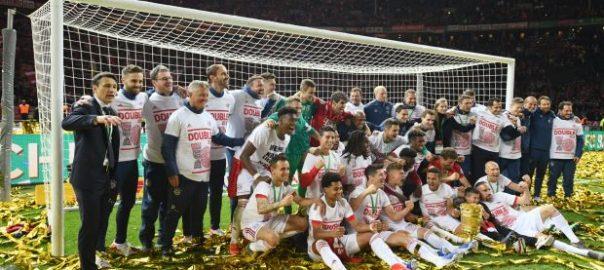 Bayern RB Leipzig goals Robert Lewandowski German Cup domestic league Cup double
