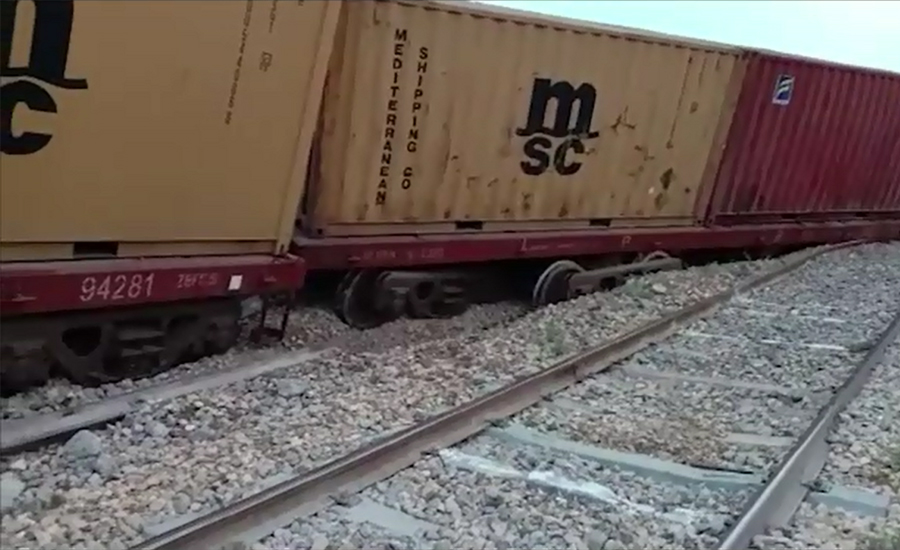 Several trains stopped due to derailment of goods train in Sukkur