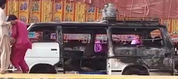 Five killed in van cylinder blast in Kashmore