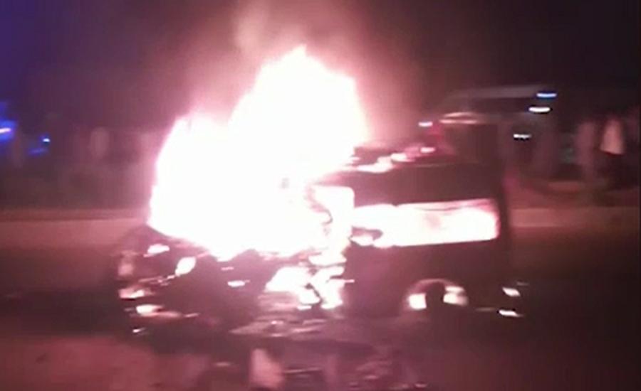 Nine passengers killed in Jhelum van inferno