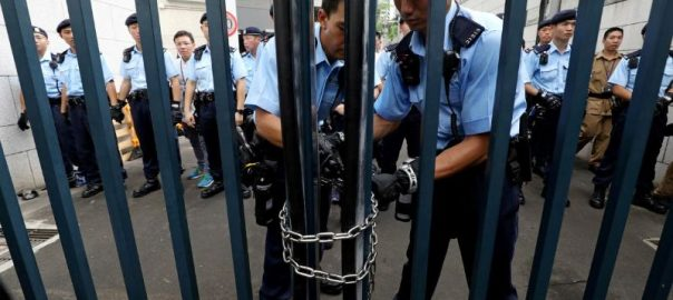 Fate, Hong Kong, protesters, hangs, balance, anger, turns, police