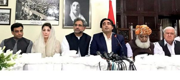 APC all parties conference Opposition leader Pakistan Muslim League-N Shehbaz Sharif Maryam nawaz JUI-F chief Maulana Fazlur RehmanJUI-F chief Maulana Fazlur Rehman APC ALl Pqarties Conference Jamiat Ulema-i-Islam-F Maryam nawaz Shehbaz Sharif Bilawal bhutto