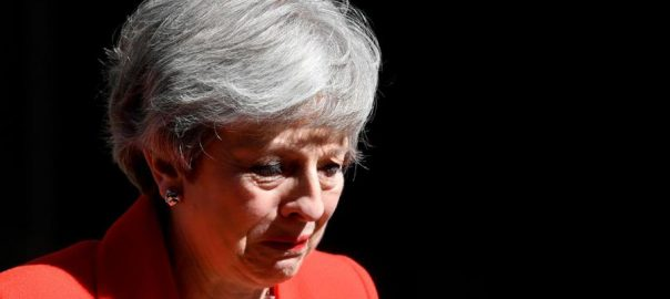 May, resignation, Conservative leader