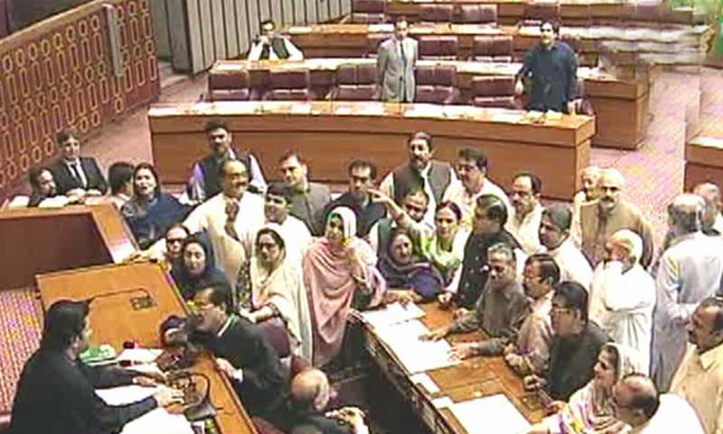 Ruckus in NA over PPP's protest as deputy speaker adjourns session