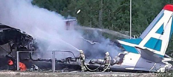Russian plane emergency landing 92 news plane