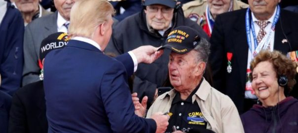 Trump, Macron, D-Day, veterans, 'fires of hell'