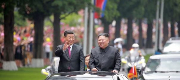 Xi I love thee china lavish state visit North Korea