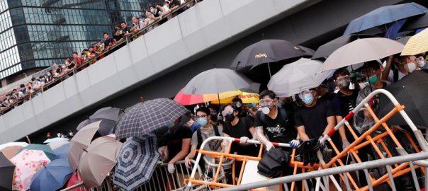 Protesters, paralyse, Hong Kong, financial, hub, extradition, bill