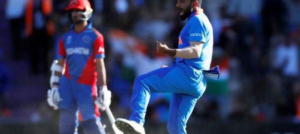 Shami, hat-trick, seals, narrow, India, win, Afghanistan