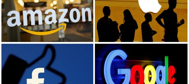 antitrust probe tech giants facebook google US moving AT&T
