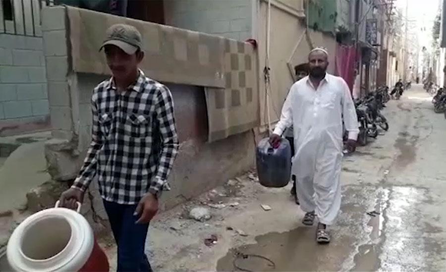 karachi water shortage saeed ghani tanker mafia people