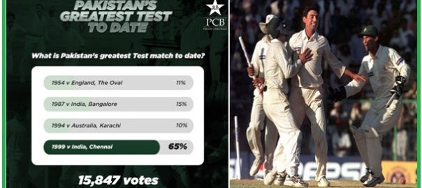 Fans vote 1999 Chennai Test Test pakistan Test online voting saqlain mushtaq India Test series