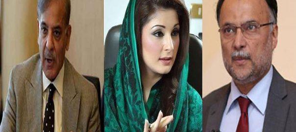 PML-N Shahid Khaqan Abbasi NAB National Accountability bureau Shehbaz Sharif Maryam Nawaz Marriyum Aurangzeb